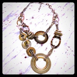 3/$30 Loft gold and bronze statement necklace